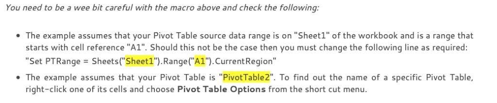 Excel - Make Pivot Tables Refresh Automatically, Excel- Automatically change the Pivot Table source data range